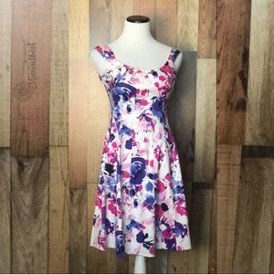 Floral - career fit-and-flare dress sz 2 P